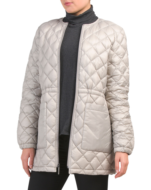 Long Down Quilt Anorak Jacket