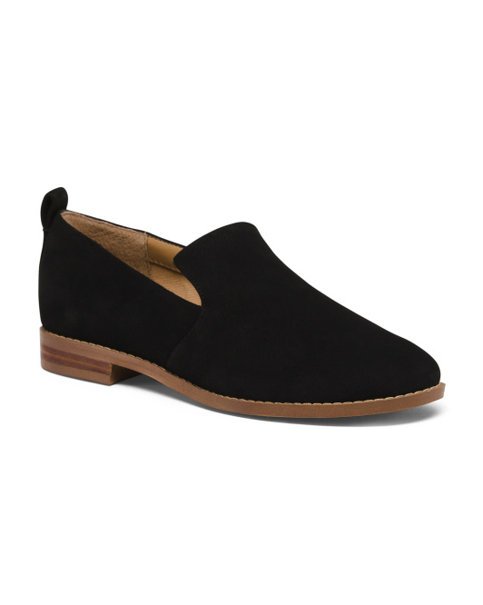 Slip On Smoking Suede Shoes