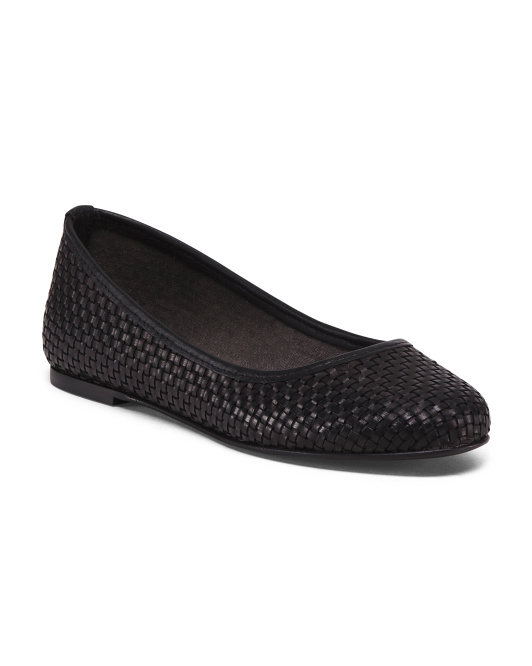 Made In Italy Ballet Leather Flats