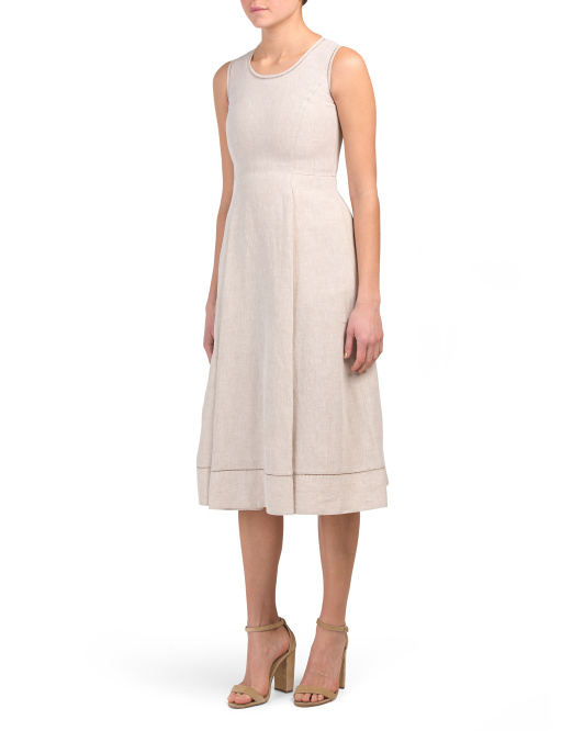 Petite Linen Carressa Dress