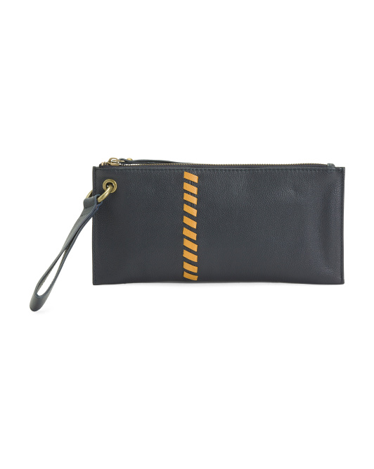 Whip Stitch Leather Wallet