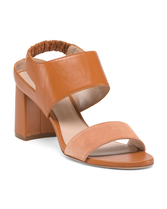 Made In Spain Leather Slingback Sandals