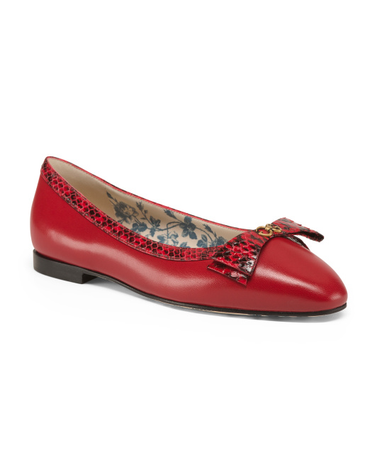 Made In Italy Leather Ballet Flats