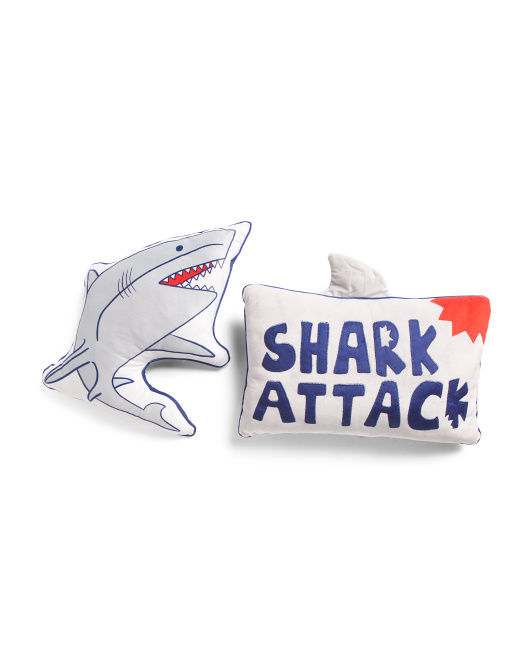 2pk Shark Attack Pillows