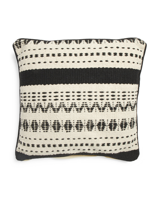 Made In India 22x22 Textured Pillow