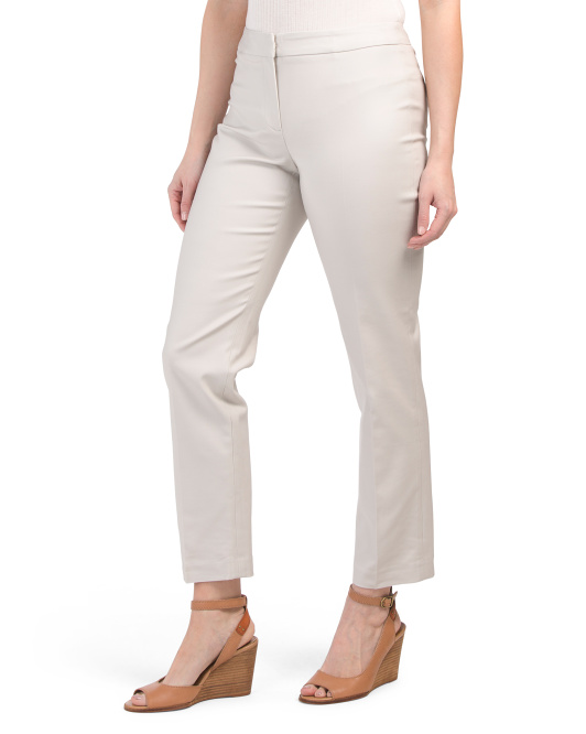 Front Zip Ankle Perfect Pants