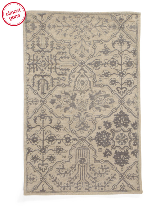 3x5 Hooked Accent Wool Rug