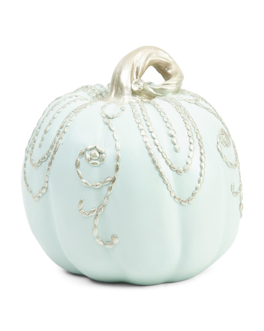 10 Resin Cham Pumpkin With Bead Decor