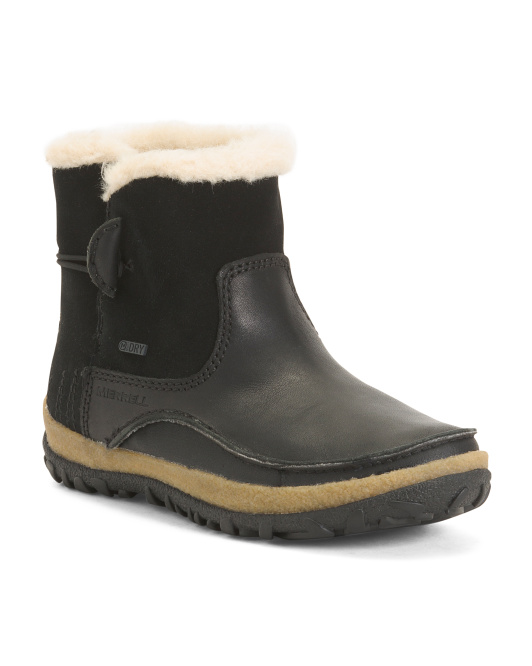 Insulated Waterproof Leather Comfort Boots