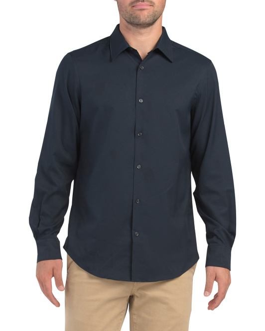 Long Sleeve Solid Total Stretch Shirt