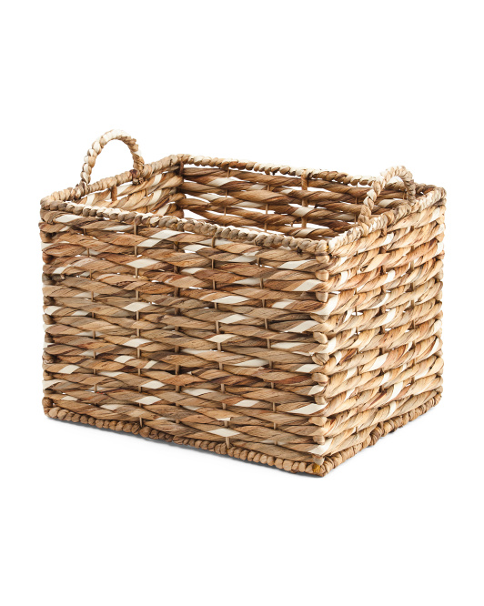 Medium Rectangle Water Hyacinth Basket