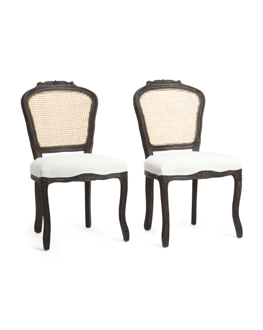 finest selection 82468 f1b60 Set Of 2 Cane Back Dining Chairs