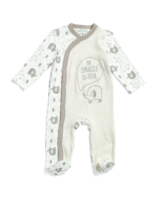 Baby Boys Elephant Coveralls