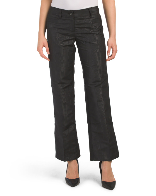 Petite Jacquard Stretch Woven Pants