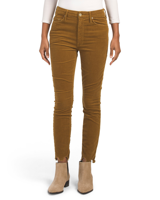 Made In Usa Corduroy High Waisted Pants