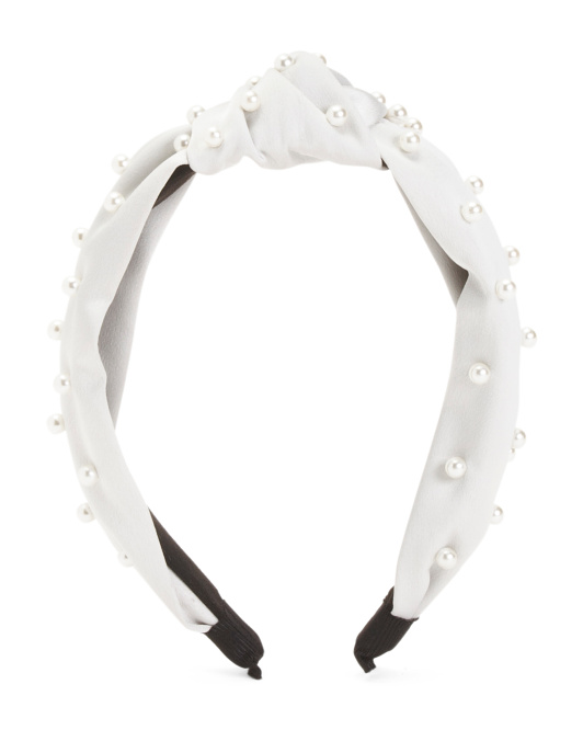 Faux Pearl Trim Headband