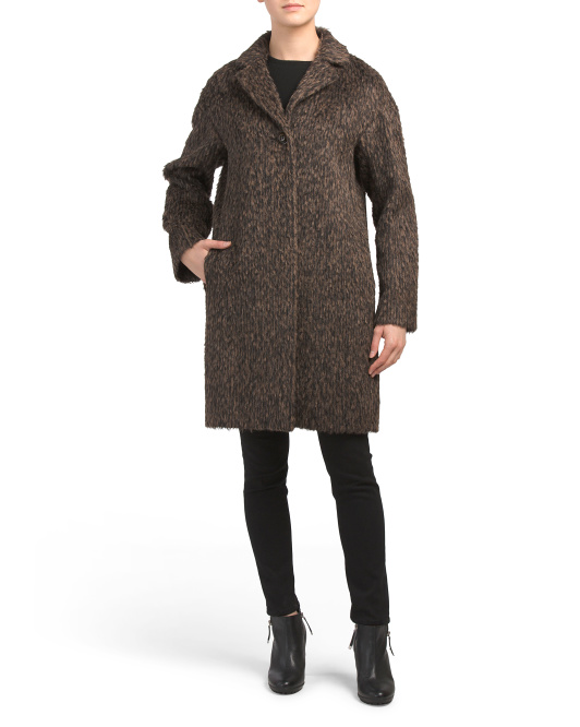 Made In Italy Alpaca Wool Blend Coat