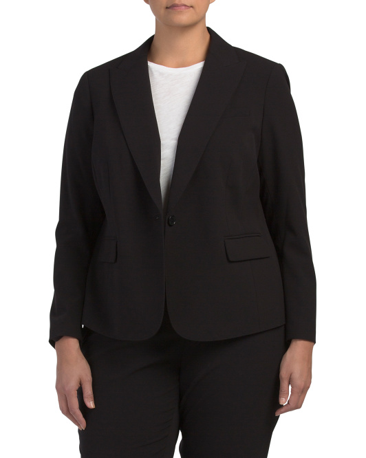 Plus Sabre Stretch One Button Jacket