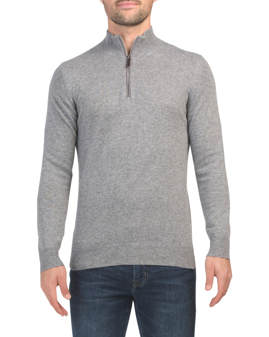 Made In Italy Quarter Zip Pullover Sweater