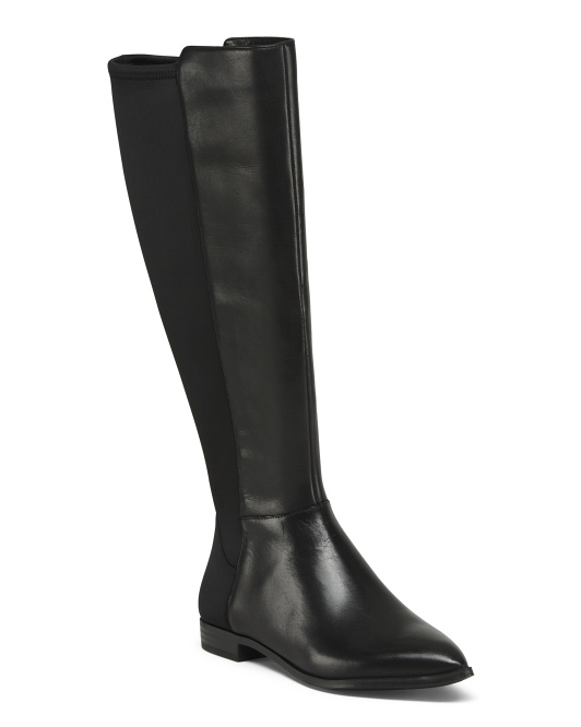 Wide Calf Leather Boots