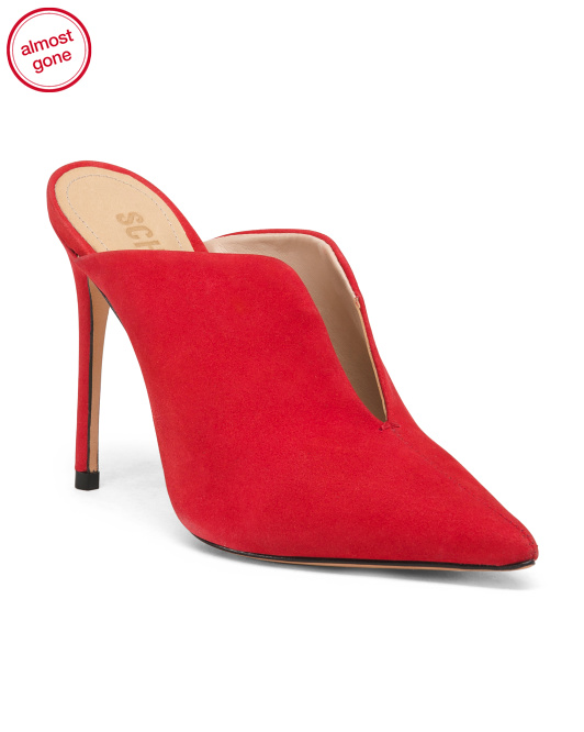 Made In Brazil Suede Stiletto Heel Mules