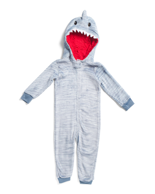 Toddler Boys Shark Cozy Coverall