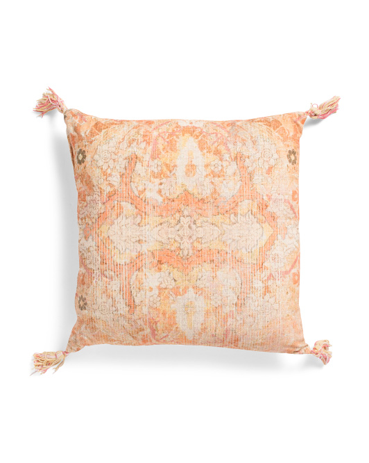 20x20 Printed Pillow With Tassels