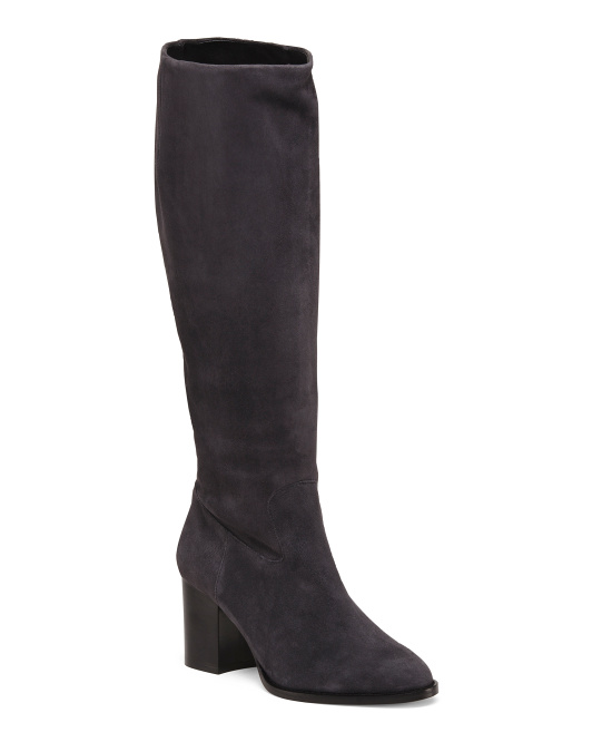 Made In Italy Suede Knee High Boots