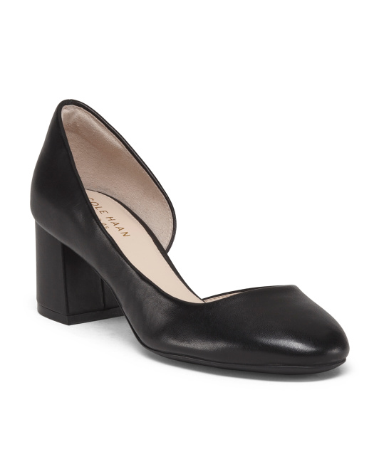 Leather D'orsay Comfort Pumps