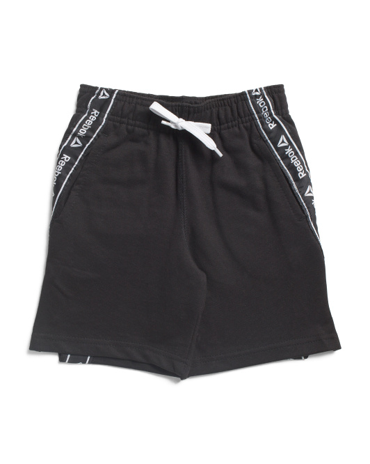 Little Boys Luxe Shorts With Side Tape