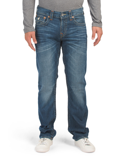 Straight Flap Om Denim Jeans