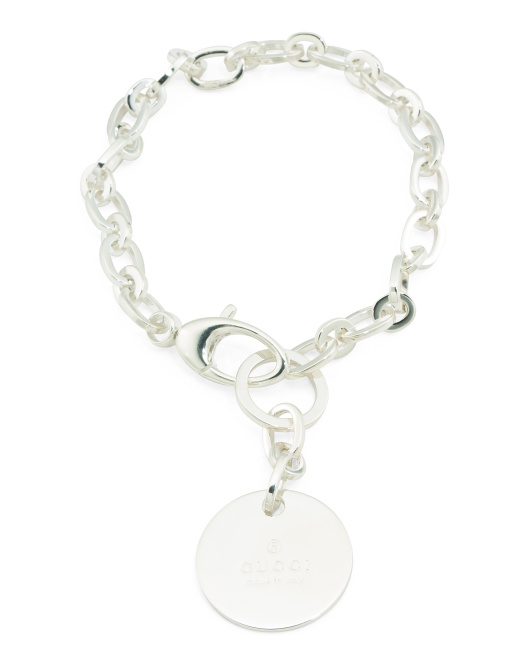 Made In Italy Sterling Silver Trademark Charm Bracelet