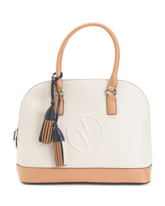 Logo Dome Satchel With Tassel