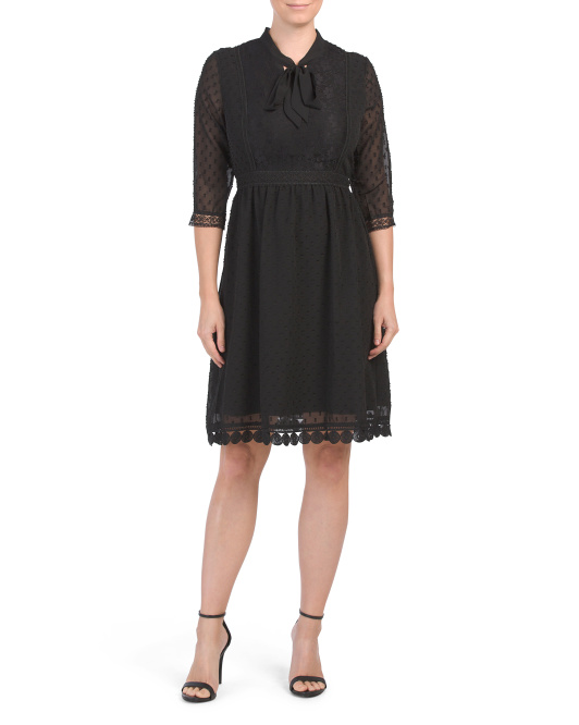 Made In Italy Clip Dot Dress