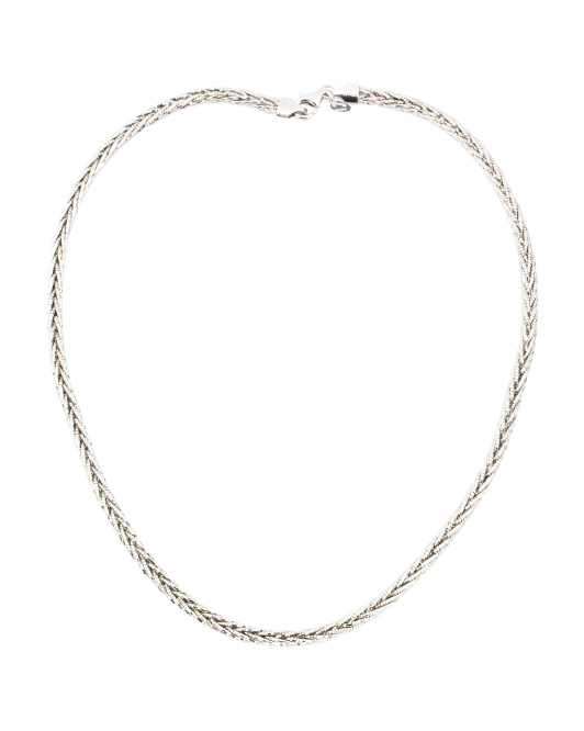 Made In Italy Sterling Silver Braided Necklace