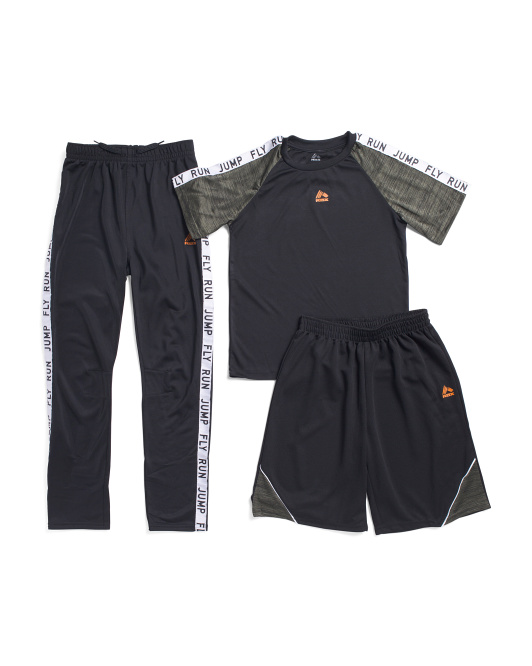 Big Boys 3pc Short Sleeve Tee & Jogger Set