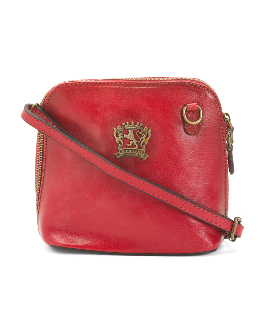 Made In Italy Leather Dome Crossbody