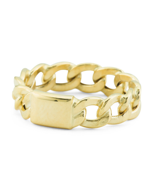 Made In Italy 14k Gold Linked Band Ring
