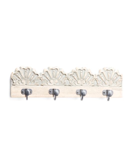 Handcrafted In India Wood Wall Hooks