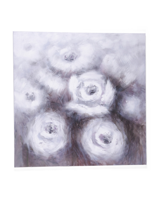 40x40 Brown And White Flowers