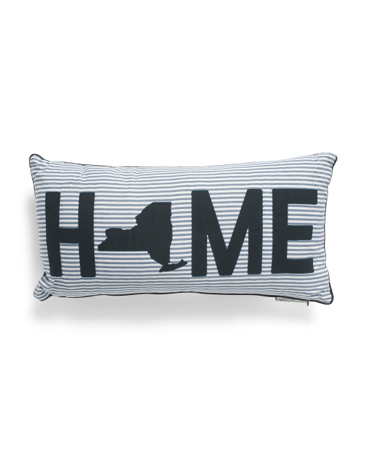 12x24 New York Home Pillow