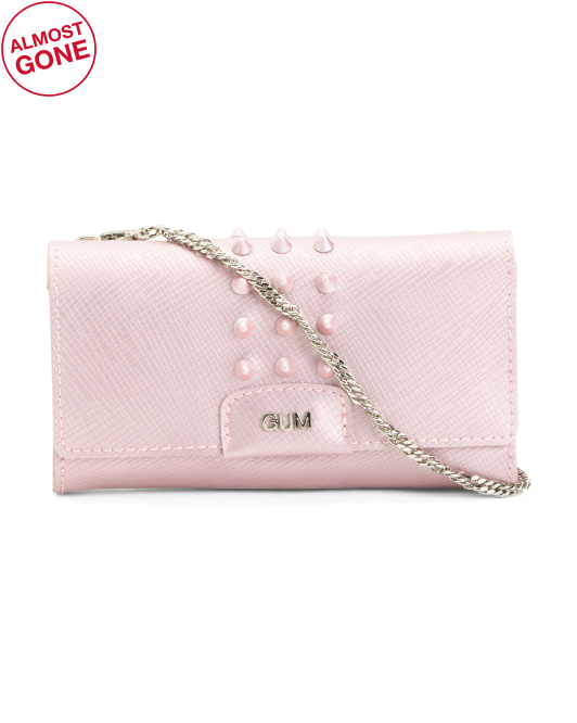 Made In Italy Studded Clutch