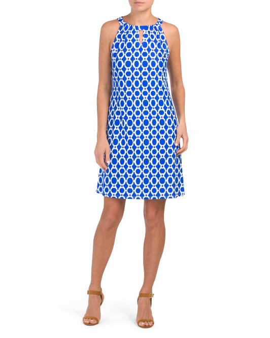 Made In Usa Lisa Printed Halter Dress
