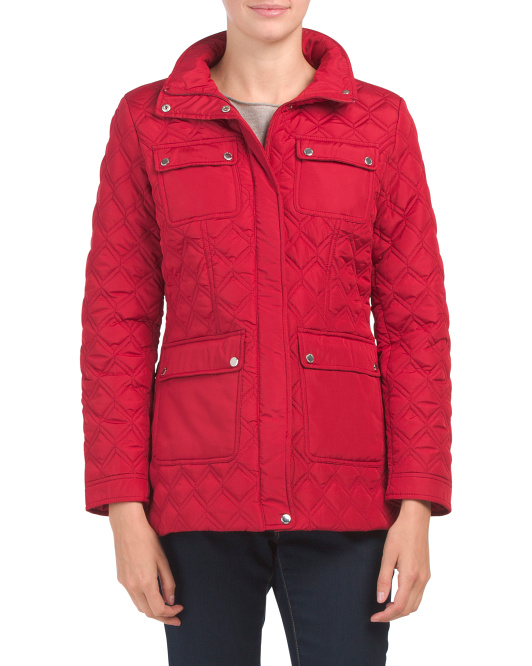 Ultility Cargo Pocket Quilted Coat