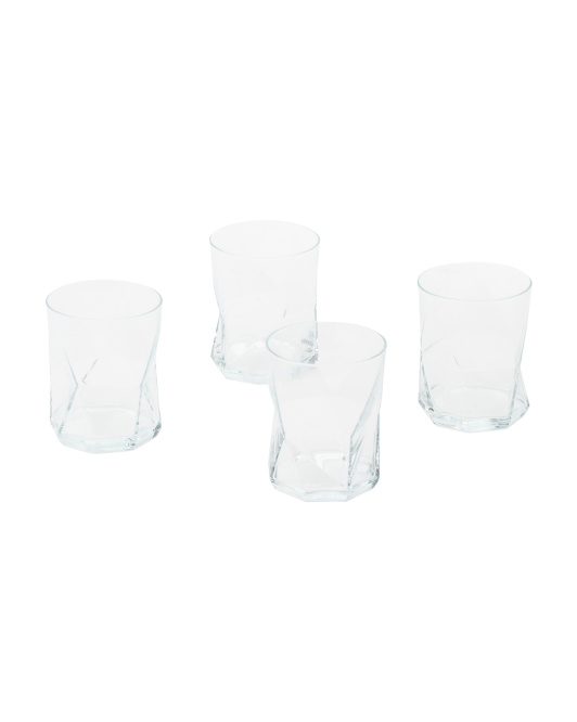 Made In Italy 4pk Cassiopea Double Old Fashioned Glasses