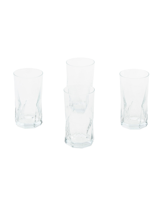Made In Italy 4pk Cassiopea Highball Glasses