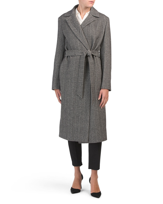 Made In Italy Wool Cashmere Walker Coat