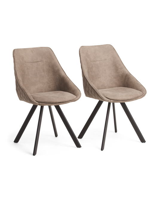low priced 82de9 9d6cb Set Of 2 Contemporary Dining Chairs