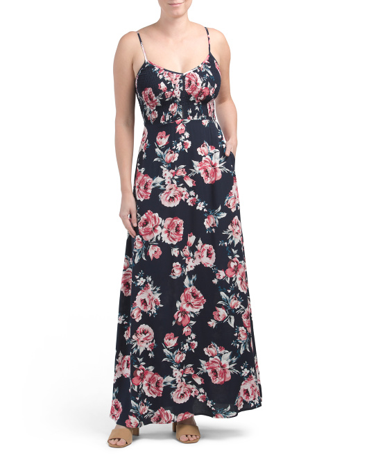 Juniors Floral Maxi Dress