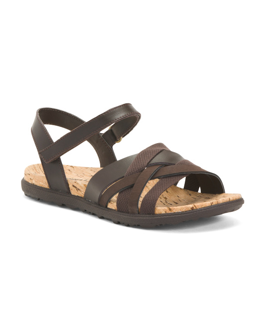 Comfort Strappy Leather Sandals